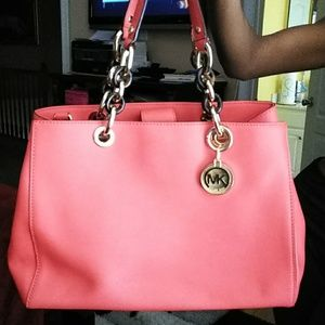 Michael Kors Cynthia leather Satchel